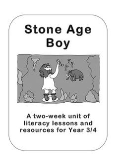 The official Stone Age Boy resource pack from /> <br /> A two-week unit of work for Years based on the book 'Stone Age Boy', with full l. Teaching Plan, Teaching Resources, Teaching Ideas, Stone Age Ks2, Stone Age Animals, Year 4 Classroom, Classroom Ideas, Primary History, We Will Rock You
