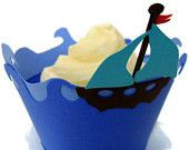 Sailboat Cupcake Wrappers