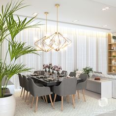 For more luxury home interior design inspirations check our website Home Room Design, Dining Room Design, Home Interior Design, Living Room Mirrors, Home Living Room, Living Room Decor, Room Partition Designs, Elegant Dining Room, Luxury Homes Interior