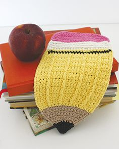 Lily Sugar n Cream - Pencil Dishcloth (free  crochet pattern)