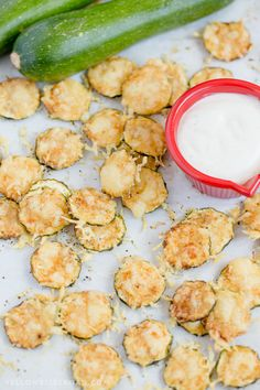 Parmesan Zucchini Crisps are a healthy snack that is simple and easy to make with just two ingredients, plus some Hidden Valley® Simply Ranch for dinning! #ad