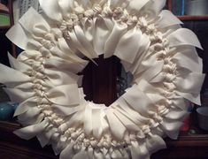 DIY Grosgrain Ribbon Wreath