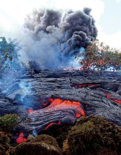 Lava flow crisis averted (for now) #Geology #GeologyPage