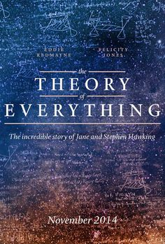 Teaser poster for THE THEORY OF EVERYTHING (James Marsh, United Kingdom/USA, 2014) #TIFF14