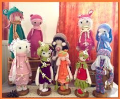 Craftypaulaa's Dolls...growing fast... All hand made by Paula. All Lalaylala Doll patterns by Lydia Tresselt.