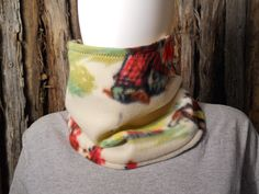FOR SALE in Lone Raven Ranch eBay shop - please follow link.. http://www.ebay.com/usr/loneravenranch (subject to prior sale) Free Ship Cowboy Cowgirl Camp Rider Cowl .Q Handmade USA Beige Multi Guitar New #HandmadebyUSASellerLoneRavenRanch #TubeScarfCowlNeckGaiterMask