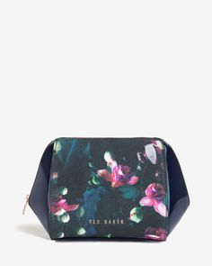 Large Fuchsia Floral wash bag - Dark Blue | Wash & Make up Bags | Ted Baker ROW