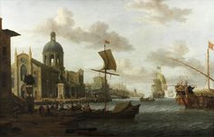 Art Collector: A Mediterranean capriccio harbour scene
