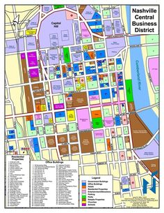 map of downtown nashville Nashville Map Official Guide Map of