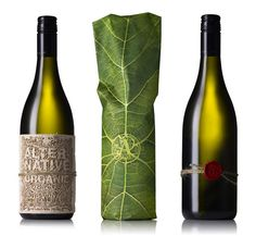 The concept simply shows a vine from the leaves,to the bark to the wine. Every aspect of the packaging was organic, thisincludes the lazer cut balsa wood, the string and wax that is used toafix the label to the bottle, the outer paper wrapping and even the inksused to print the image.