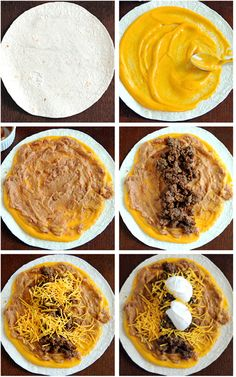 5 Layer Beef Burrito Fast Food: Layer Beef Burrito My husband will love this Taco Bell Recipes, Mexican Food Recipes, Beef Recipes, Cooking Recipes, Taco Bell 5 Layer Burrito Recipe, Easy Burrito Recipe, Cooking Tips, Taco Bell Quesadilla Sauce, Mexican Desserts