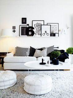 Interieur inspiratie | 15x de woonkamer in zwart + wit. - Stijlvol Styling woonblog www.stijlvolstyling.com