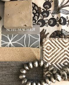 Just a little texture this morning. Love this Cornelia fabric that was the jumping off point! Mood Board Interior, Interior Design Boards, Fabric Board, Design Palette, Fabric Combinations, Colour Board, Colour Schemes, Color Palettes, Home Decor Fabric