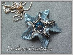 Twisted Star - beaded pendant