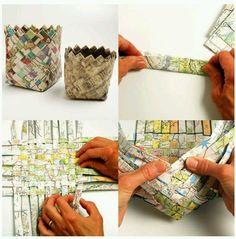 Weaved Paper Basket