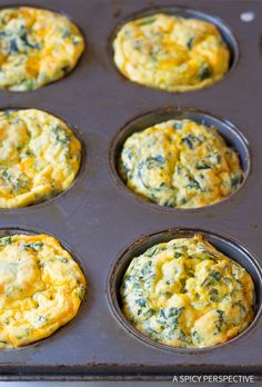Easy Spinach Scramble Egg Muffins Recipe (Low Carb and Gluten Free!)