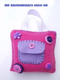 Pink and lilac Tooth fairy hanging cushion £4.00