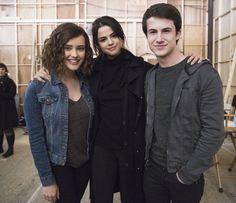 katherine Langford, Selena Gomez, and Dylan Minnette