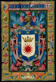 click to zoom Renaissance, Medieval Manuscript, Coat Of Arms, Flags, Badge, Miniatures, Symbols, Illustration, Painting