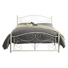 Amazing Weston Home Pallina Metal Platform Bed - White