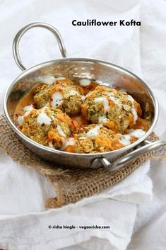 Baked Cauliflower Veggie Balls in Spiced Tomato Onion Sauce. How to make Cauliflower Kofta Curry. Vegan Indian Recipe. Soy-free, easily gluten-free.