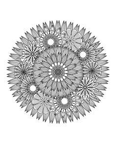 floral mandala: