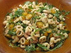 tortellini caprese with arugula and tomato balsamic vinaigrette