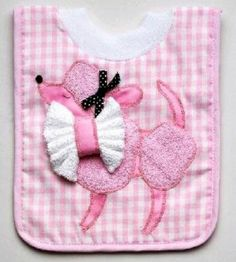 Pink Poodle Pullover Bib with Wascloth Baby Shower Gift | eBay