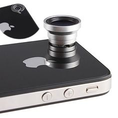 Wide-Angle Macro Lens for the iPhone. Doesn't cover the flash, and attaches magnetically. Very cool.