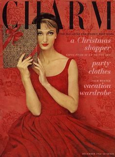 35 Stunning Holiday-Themed Magazine Covers from the Days of Yore: Evelyn Tripp for Charm, December, 1954