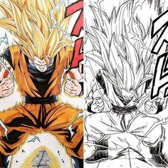 "12.6 mil curtidas, 140 comentários - Dragon Ball Content (@insanedbz) no Instagram: ""Fan art or Manga? Follow >@insanedbz< Tag some #DBZ lovers!! Credit / taken: @jmc_artwork .…"""