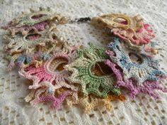 TATTERED frayed crochet doily bracelet by lilyofthevally on Etsy, $30.00