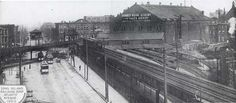 ELEVATED CONNECTION WITH FIFTH AVENUE EL WAS USED 1899-1904 THEN SERVED AS PART OF TEMPORARY TERMINAL FOR STEAM TRAINS  UNTIL FULL ELECTRIFICATION.
