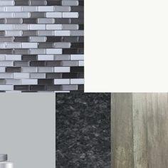 Fun Renovation Things: Choosing A Design Aesthetic - Your Life After Grey Brick, Peel And Stick Tile, Wall Stickers Murals, Doberman Pinscher, Kitchen Backsplash, Tiles, Fun, Design, Room Tiles