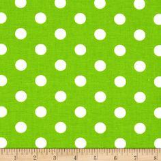 Spot On II Polka Dots Green/White - Discount Designer Fabric - Fabric.com $5.93/yd