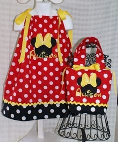 Minnie Mouse Pillowcase Dress Sizes 6mos8yr AND by GiftSewFine
