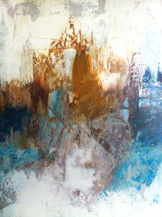 """Sand and Wave"" by Eva Kiss. 22 x 30. Acrylic abstract on deep canvas."