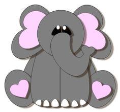 Ellie the Elephant FREE SVG on my blog. #scrapbooking #svg