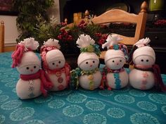 Sock Snowmen or Snow Babies As I Like To Call Them
