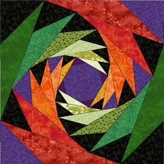This is an computer generated picture but you can enlarge to make a paper pieced quilt pattern