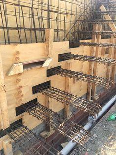 Imagem result for concrete stairs, Cantilever Stairs, Concrete Staircase, Concrete Walls, Concrete Design, Railing Design, Staircase Design, Staircase Ideas, House Front Design, Modern House Design