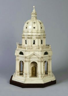 In the form of an Italian Renaissance octagonal chapel with domed roof above two stories of windows within pediments on columns. 3d Printer Models, 3d Models, Classic Architecture, Architecture Details, Sustainable Architecture, Landscape Architecture, Model Maker, 3d Prints, Miniature Houses