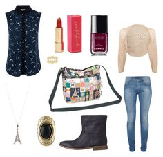 LeSportsac It's A Small World Collection Entry - France by chelsea-ekholm on Polyvore featuring Oasis, HANIA by Anya Cole, French Connection, Hope, Crafted, Judith Jack, Kate Spade, Chanel, country and its a small world collection
