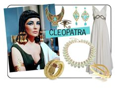 """Halloween DIY: Cleopatra"" by blingjewelry ❤ liked on Polyvore featuring Bling Jewelry, cleopatra, halloweencostume and DIYHalloween"