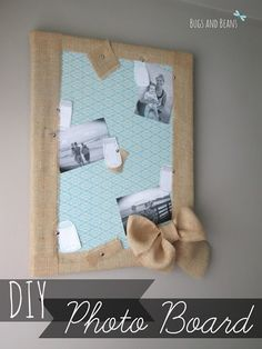Learn how easy it is to Revamp Your Old Cork Board into this adorable DIY photo board! Full tutorial with step by step photo instructions!