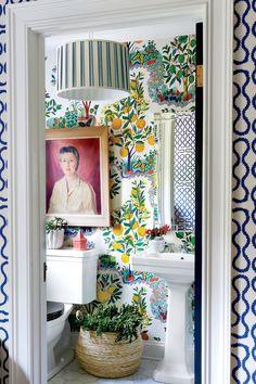 Home Decor Inspiration 30 Inspiring Colorful Bathrooms - The Nordroom.Home Decor Inspiration 30 Inspiring Colorful Bathrooms - The Nordroom Home Design, Home Interior Design, Design Design, Colorful Interior Design, Design Ideas, Deck Design, Bath Design, Design Trends, Bathroom Inspiration