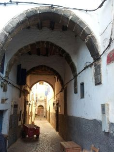 Walking through the medina in Essaouira, Morocco