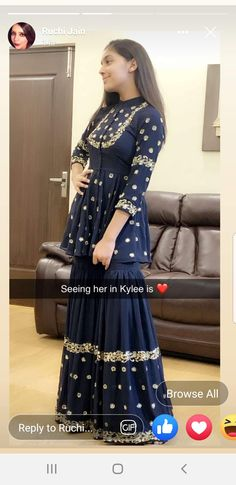 Sharara Designs, Kurta Designs Women, Kurti Designs Party Wear, Indian Wedding Outfits, Bridal Outfits, Indian Outfits, Indian Gowns Dresses, Pakistani Dresses, Party Wear Indian Dresses