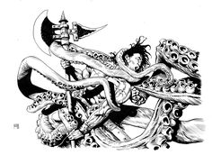 Conan e tentacoli, di Gianluca Pagliarani.