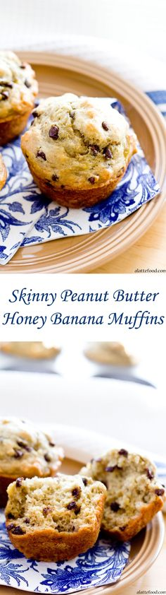 Skinny Peanut Butter Honey Banana Muffins | All the flavor. None of the guilt. Win!
